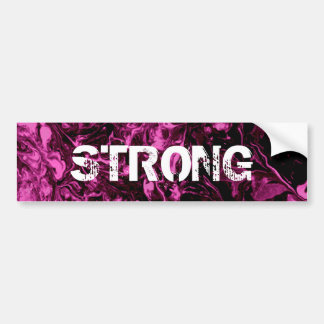 Purple and black Marble Bumper Sticker