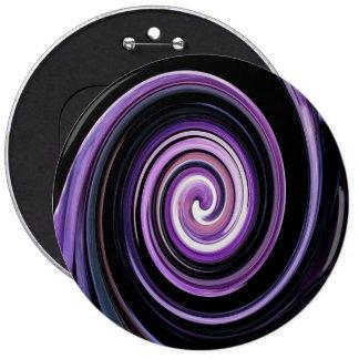 Purple and black maze 6 inch round button