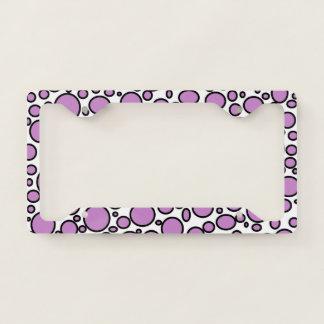 Purple and Black Polka Dots License Plate Frame