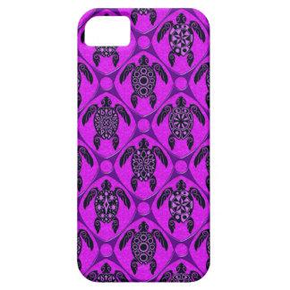 Purple and Black Sea Turtle Pattern iPhone 5 Case
