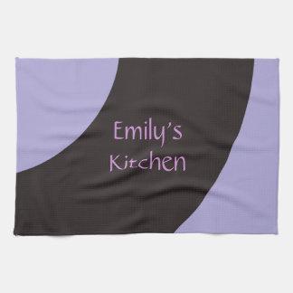 Purple and Black Swirl Kitchen Towel