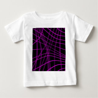Purple and black warped lines baby T-Shirt