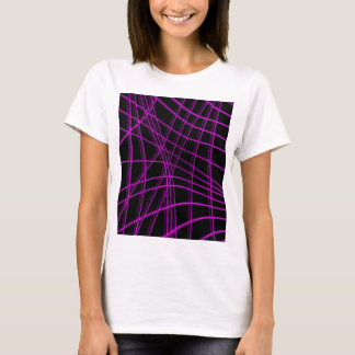 Purple and black warped lines T-Shirt