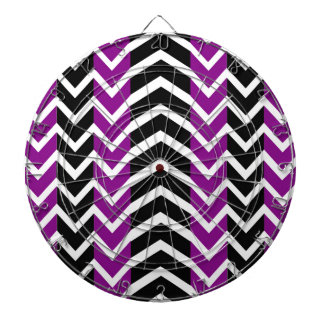 Purple and Black Whale Chevron Dartboard