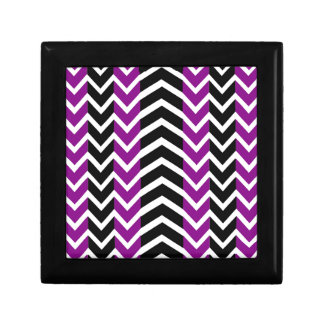 Purple and Black Whale Chevron Gift Box