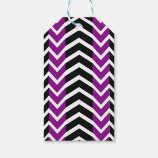 Purple and Black Whale Chevron Gift Tags