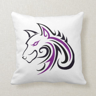 Wolf Head Outline Pillows Pillow Outline