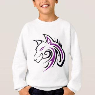 Purple and Black Wolf Head Outline Sweatshirt