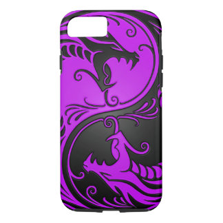 Purple and Black Yin Yang Dragons iPhone 7 Case