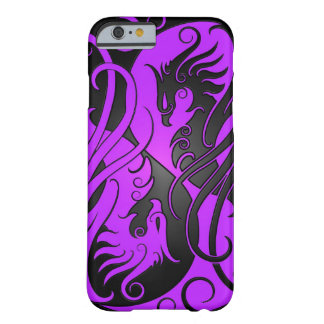 Purple and Black Yin Yang Phoenix Barely There iPhone 6 Case