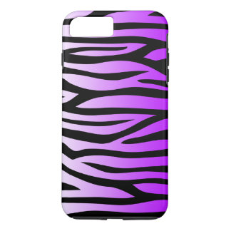 Purple and Black Zebra Pattern iPhone 8 Plus/7 Plus Case
