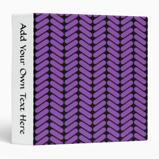 Purple and Black Zigzags Pattern. Binder