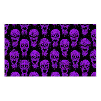 Purple and Black Zombie Apocalypse Pattern Pack Of Standard Business Cards