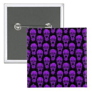 Purple and Black Zombie Apocalypse Pattern Button