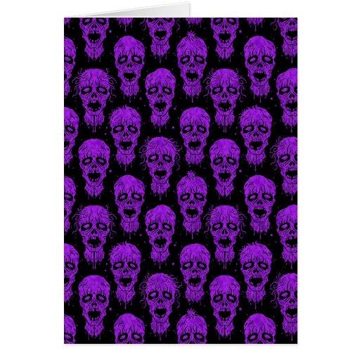 Purple and Black Zombie Apocalypse Pattern Card