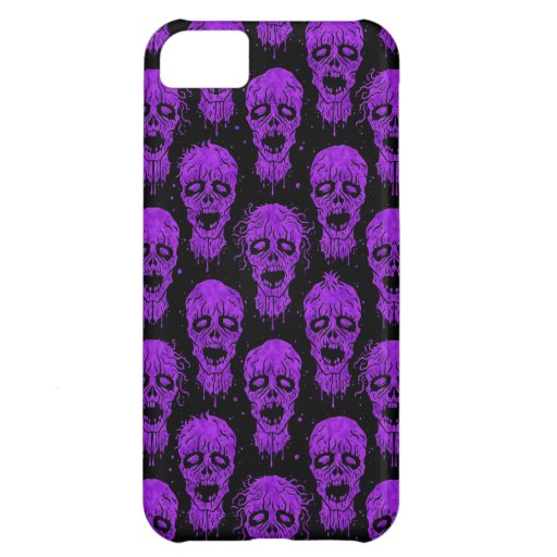 Purple and Black Zombie Apocalypse Pattern iPhone 5C Covers