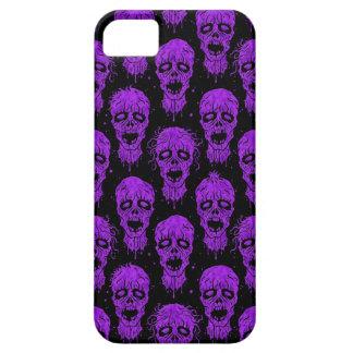 Purple and Black Zombie Apocalypse Pattern iPhone 5 Cases