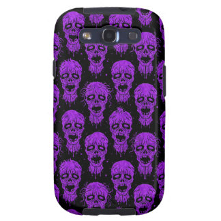 Purple and Black Zombie Apocalypse Pattern Samsung Galaxy SIII Cover