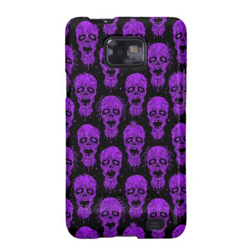 Purple and Black Zombie Apocalypse Pattern Samsung Galaxy S2 Cover