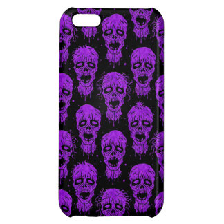 Purple and Black Zombie Apocalypse Pattern Cover For iPhone 5C