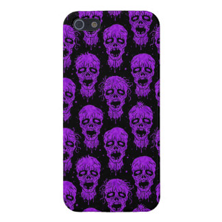 Purple and Black Zombie Apocalypse Pattern iPhone 5 Cover