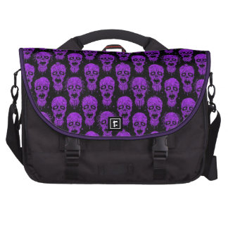 Purple and Black Zombie Apocalypse Pattern Laptop Bag