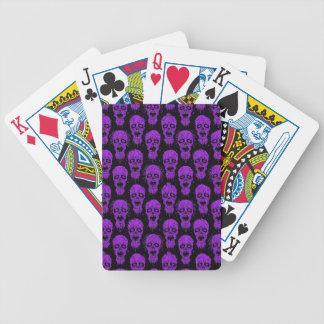Purple and Black Zombie Apocalypse Pattern Card Deck