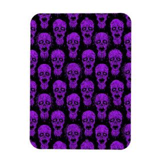 Purple and Black Zombie Apocalypse Pattern Magnet