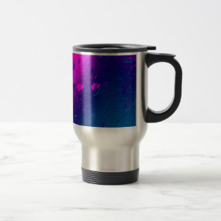 Purple and Blue Abstract Design 15 Oz Stainless Steel Travel Mug