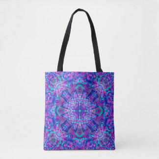 Purple And Blue  All-Over-Print   Tote Bag
