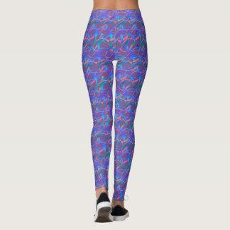 Purple and blue blended leggings