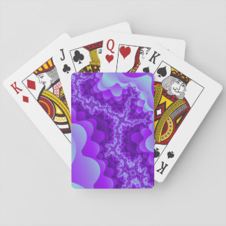 Purple And Blue Bubble Coral Fractal Design Playing Cards