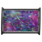 Purple and Blue Bubble Fractal Serving Tray