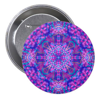 Purple And Blue Buttons, square or round 3 Inch Round Button
