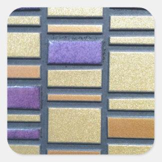 Purple and Blue Ceramic Tile Square Sticker