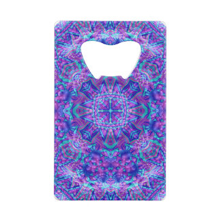 Purple And Blue  Credit Card Openers Credit Card Bottle Opener