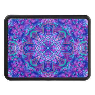 Purple And Blue Custom Trailer Hitch Covers