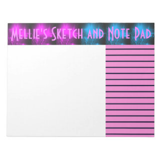 Purple and Blue Dazzle Sketch and Note Pad