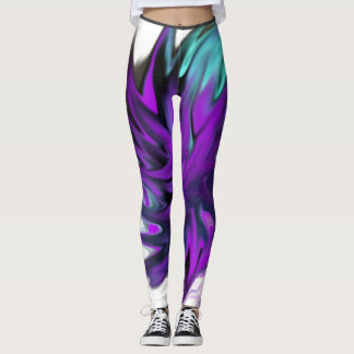 Purple and Blue flame leggings