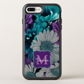 Purple and Blue Flower Smash OtterBox Symmetry iPhone 8 Plus/7 Plus Case