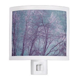 Purple and Blue Frosty Snowy Night Light