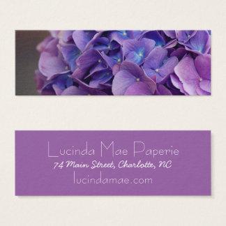 Purple and Blue Hydrangea Close Up Mini Business Card