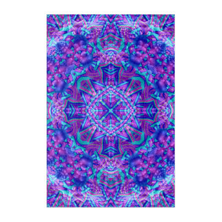 Purple And Blue Kaleidoscope  Acrylic Wall Art