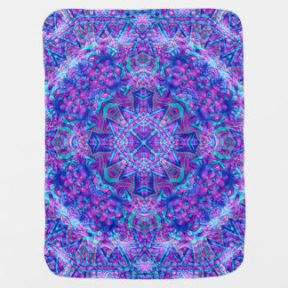 Purple And Blue Kaleidoscope Baby Blanket