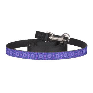 Purple And Blue Kaleidoscope   Dog Leash