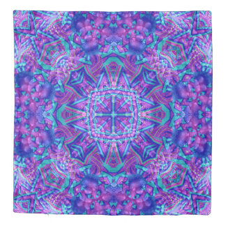 Purple And Blue Kaleidoscope   Duvet Covers