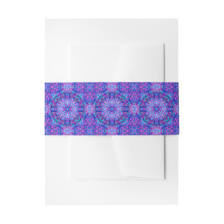Purple And Blue Kaleidoscope Invitation Belly Band