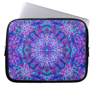 Purple And Blue Kaleidoscope Laptop Computer Sleeve