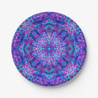 Purple And Blue Kaleidoscope      Porcelain Plates