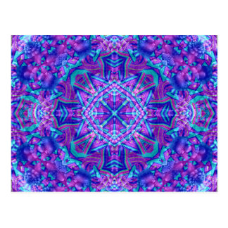 Purple And Blue Kaleidoscope  Postcards